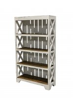 White Bookcase Rustic