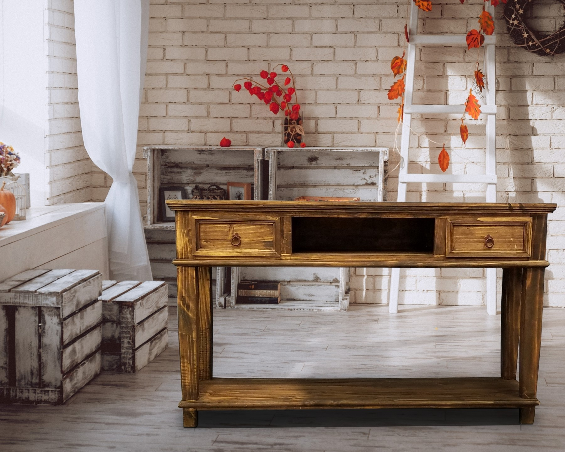 LA CID 153 Antique Sofa Table 2 Drawers