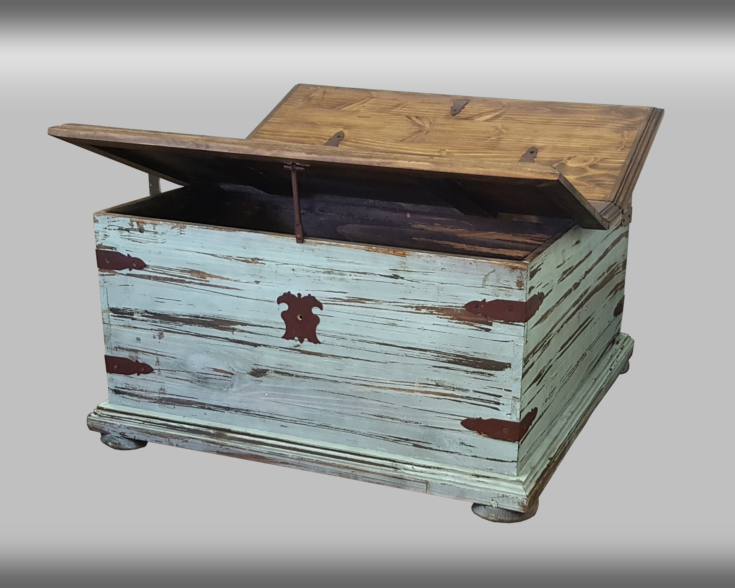 Turquoise Double Lid Trunk